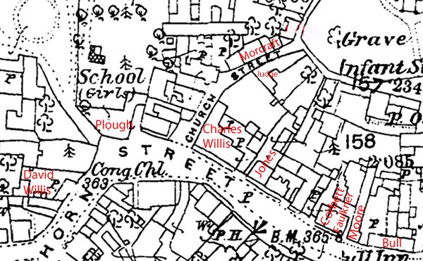 Map of north side of Horn Street