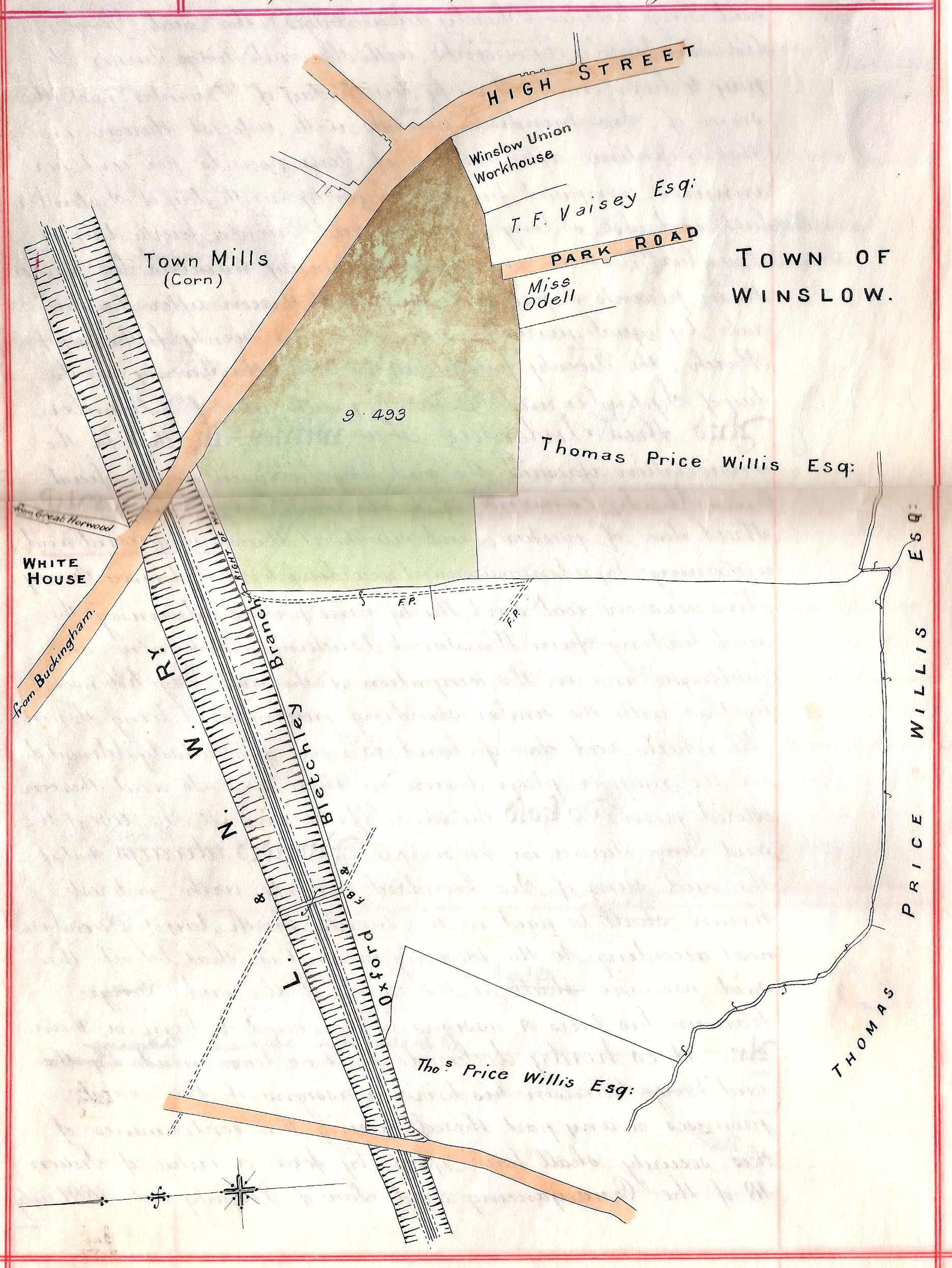 Plan of Buckingham Road, 1906