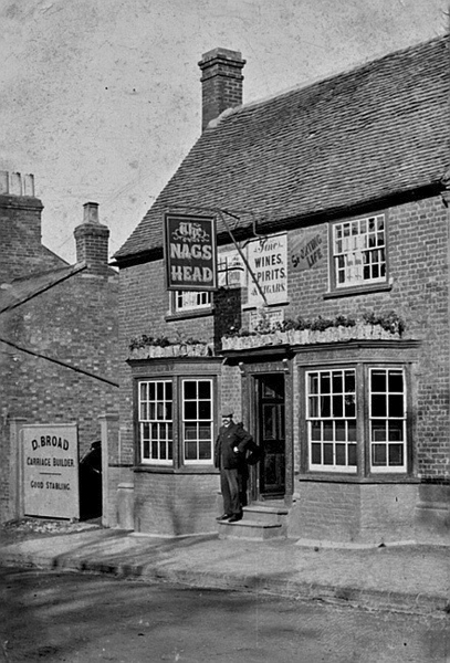 Nag's Head with sign for D. Broad