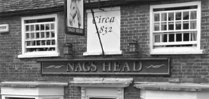 Circa 1832 painted on front of Nag's Head
