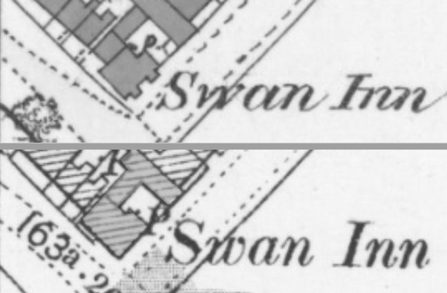 Maps of The Swan 1879 and 1899