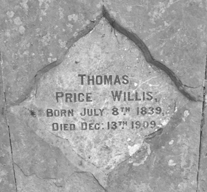 Epitaph of TP Willis