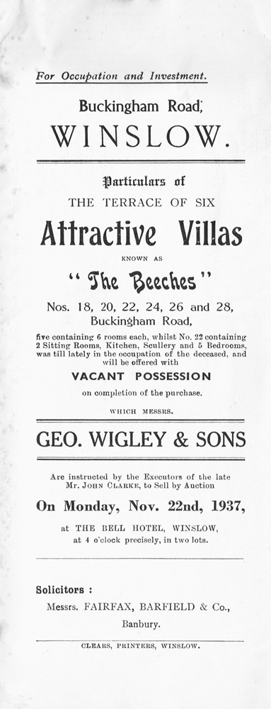 The Beeches sale catalogue