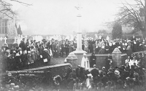 The ceremony of unveiling the War Memorial