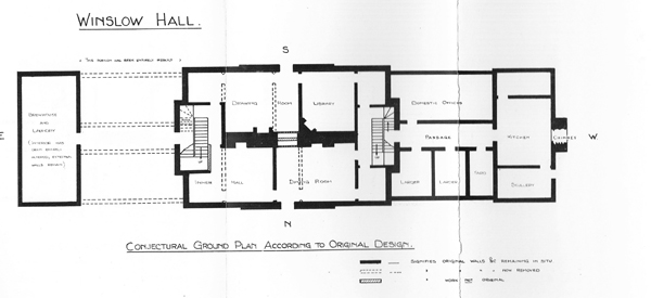 Conjectural floor plan