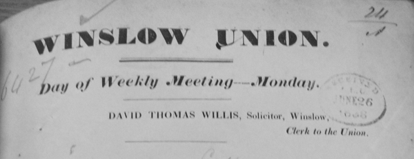 Winslow Union letterhead