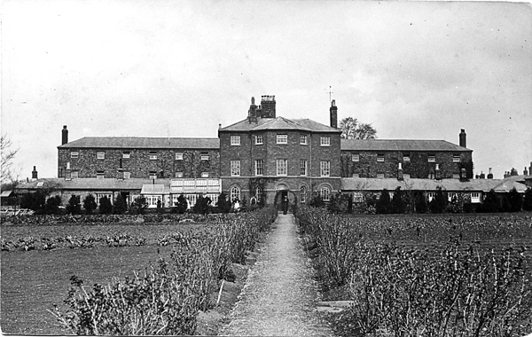 View of the Workhouse and garden from the south