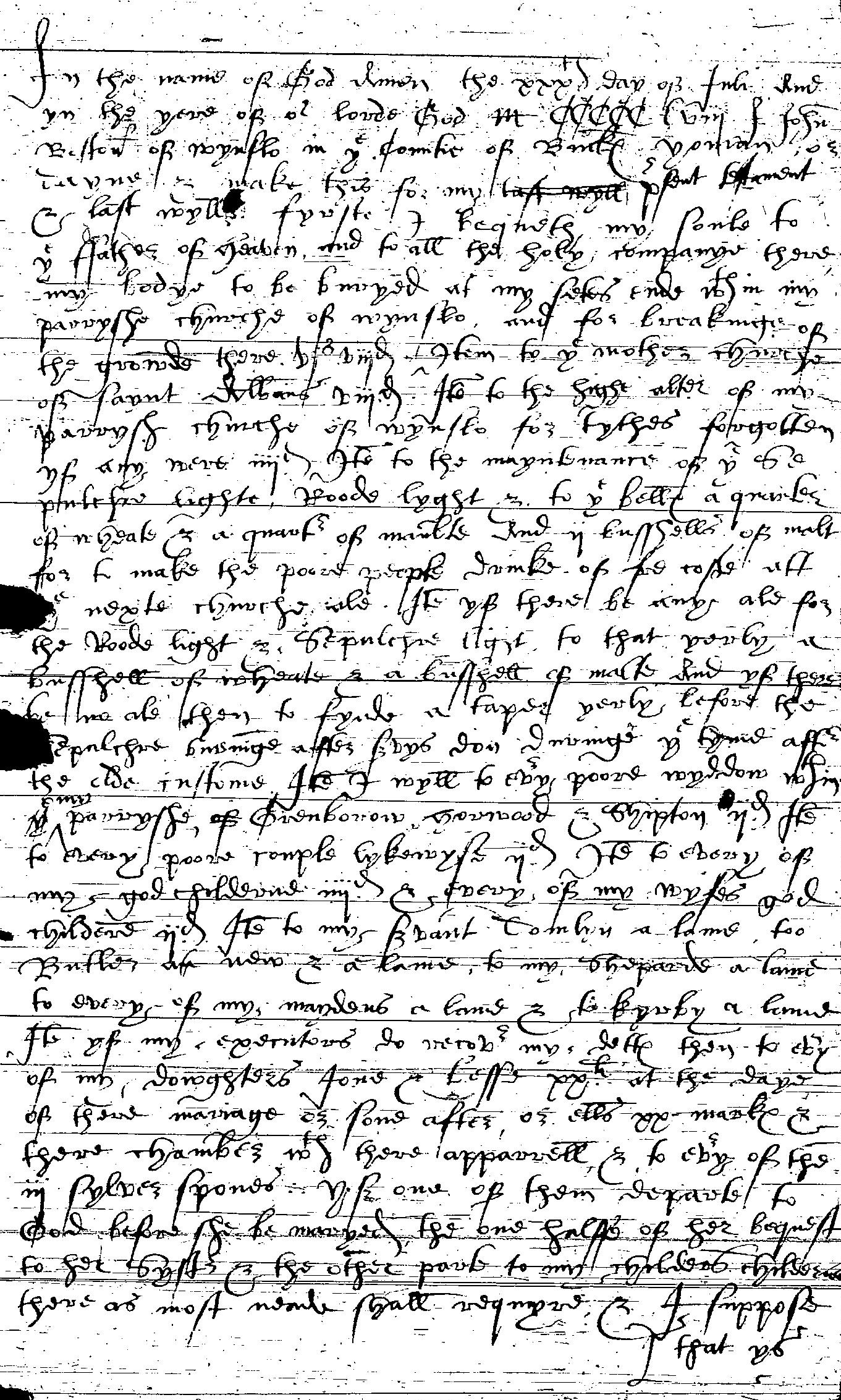 Will of John Boston p1