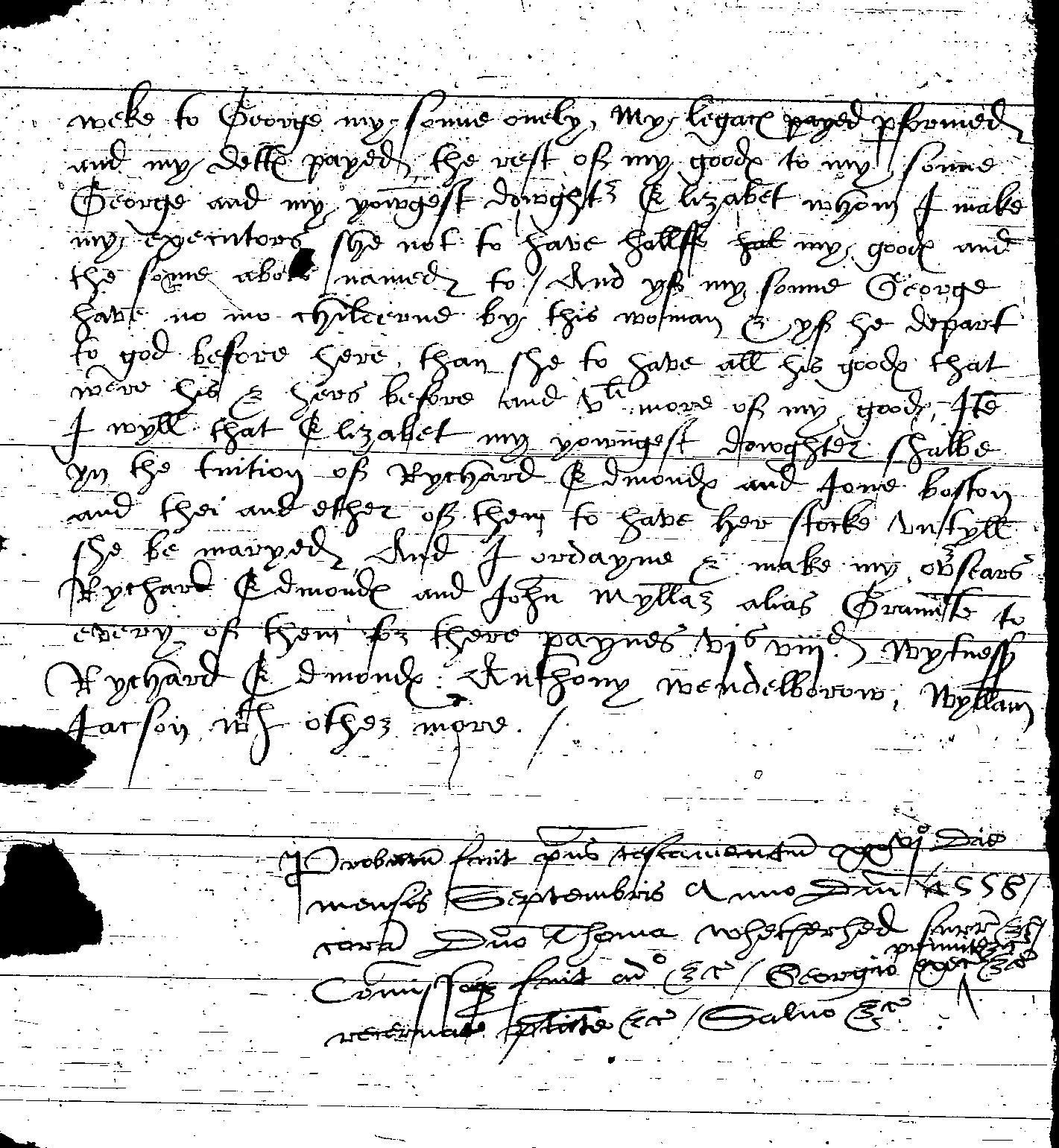 Will of John Boston p3