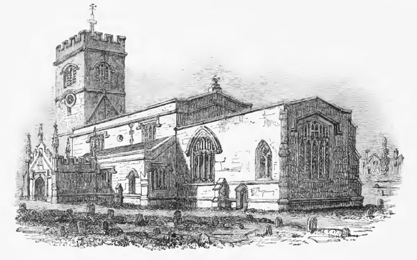 Engraving of the church before restoration