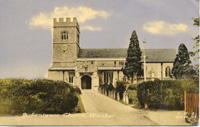 A postcard of St Laurence Church (Winslow History, www.winslow-history.org.uk)