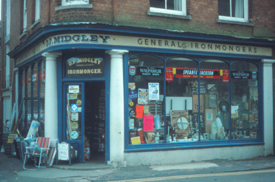 Colour photo of the shop front