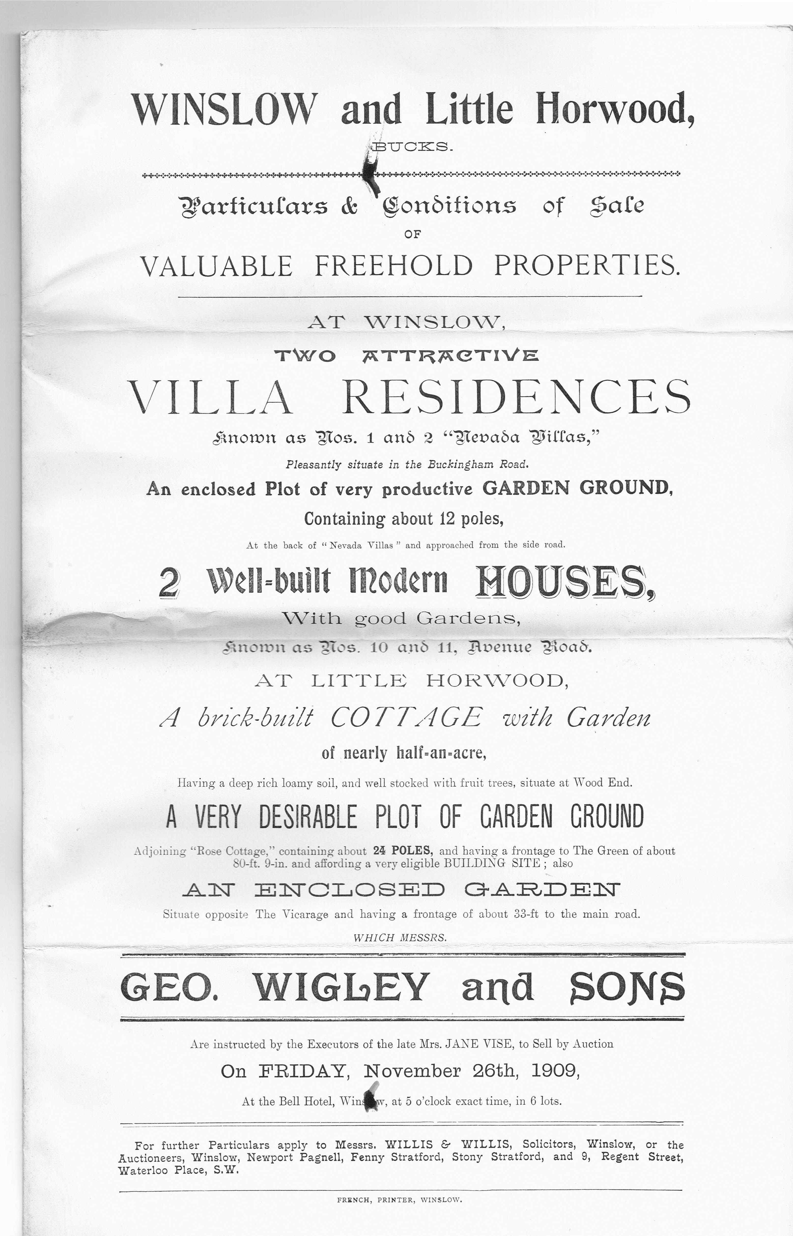 Sale of Nevada Villas 1909 p1