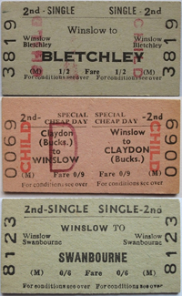Tickets to Bletchley, Claydon and Swanbourne