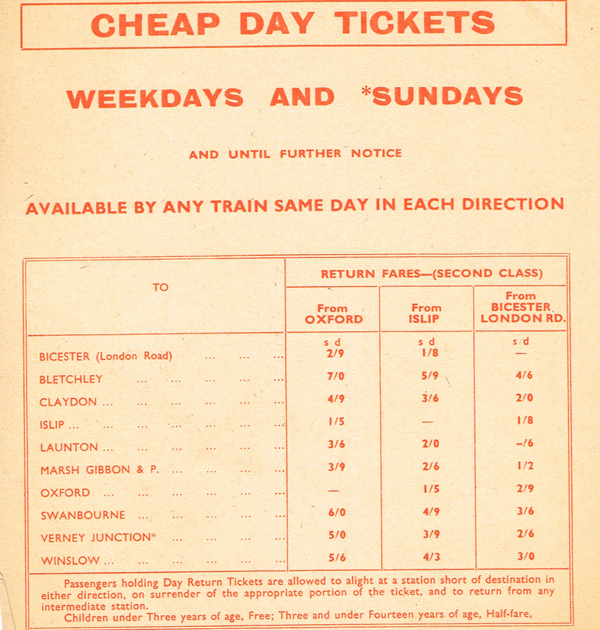 Railway poster advertising cheap day tickets