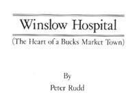 Cover of Winslow Hospital pamphlet