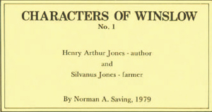 Cover of Characters of Winslow no.1