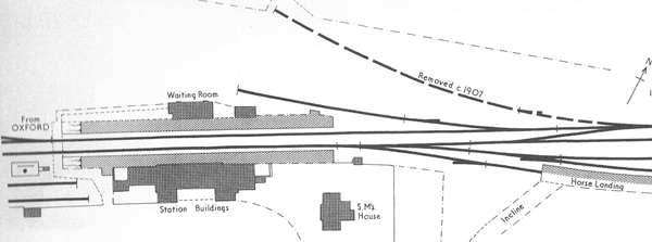 Plan of Winslow Station and sidings 1907