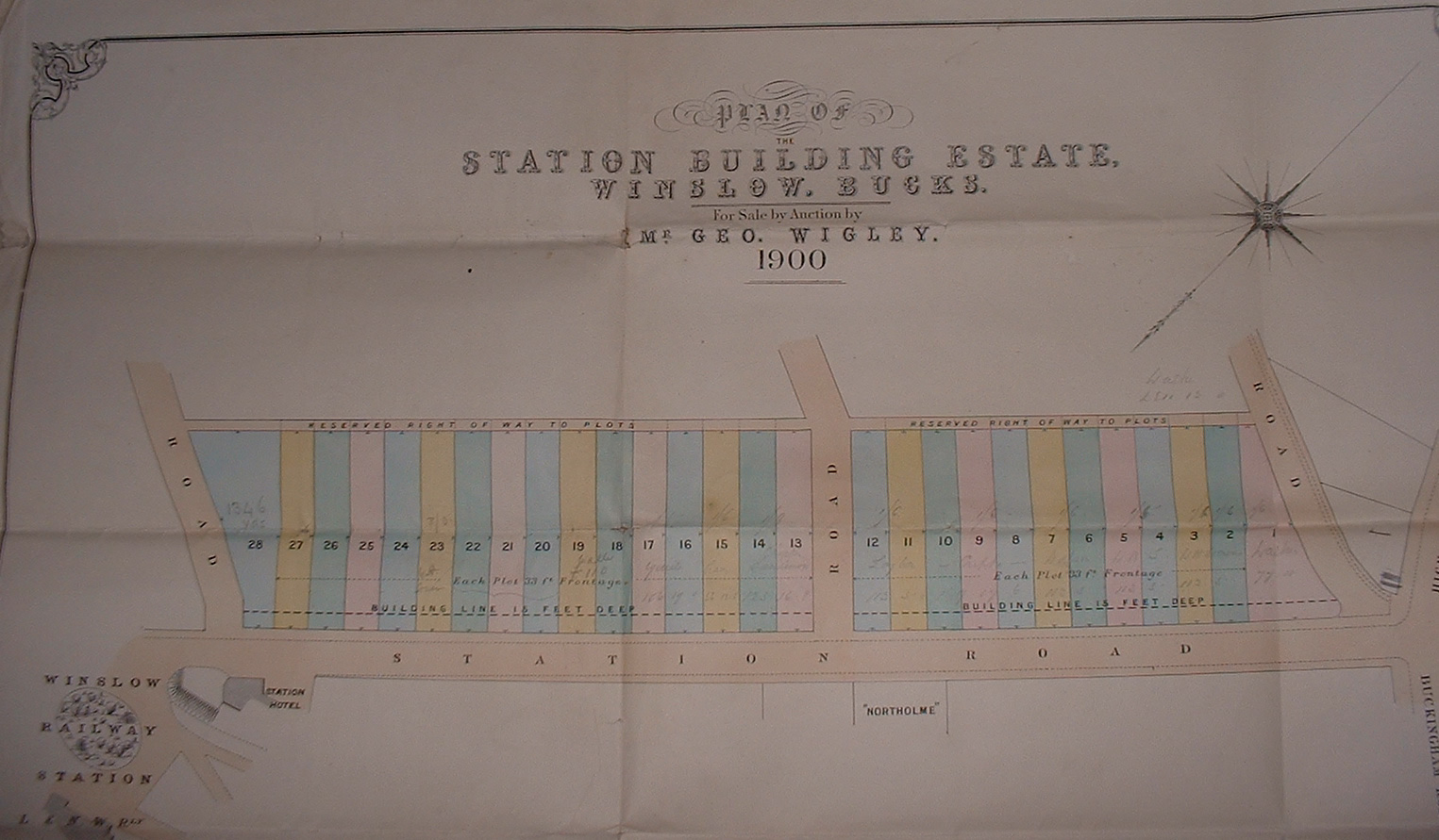 Plan from 1900 sale