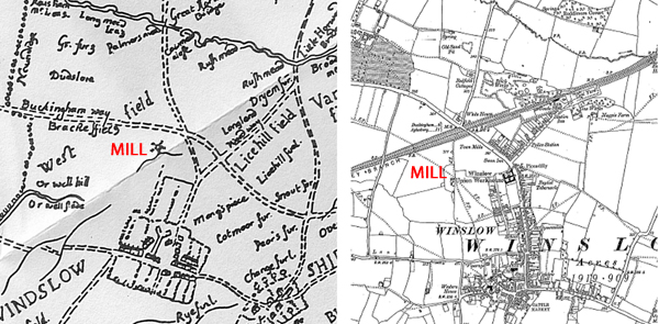 Map showing location of the New Mill